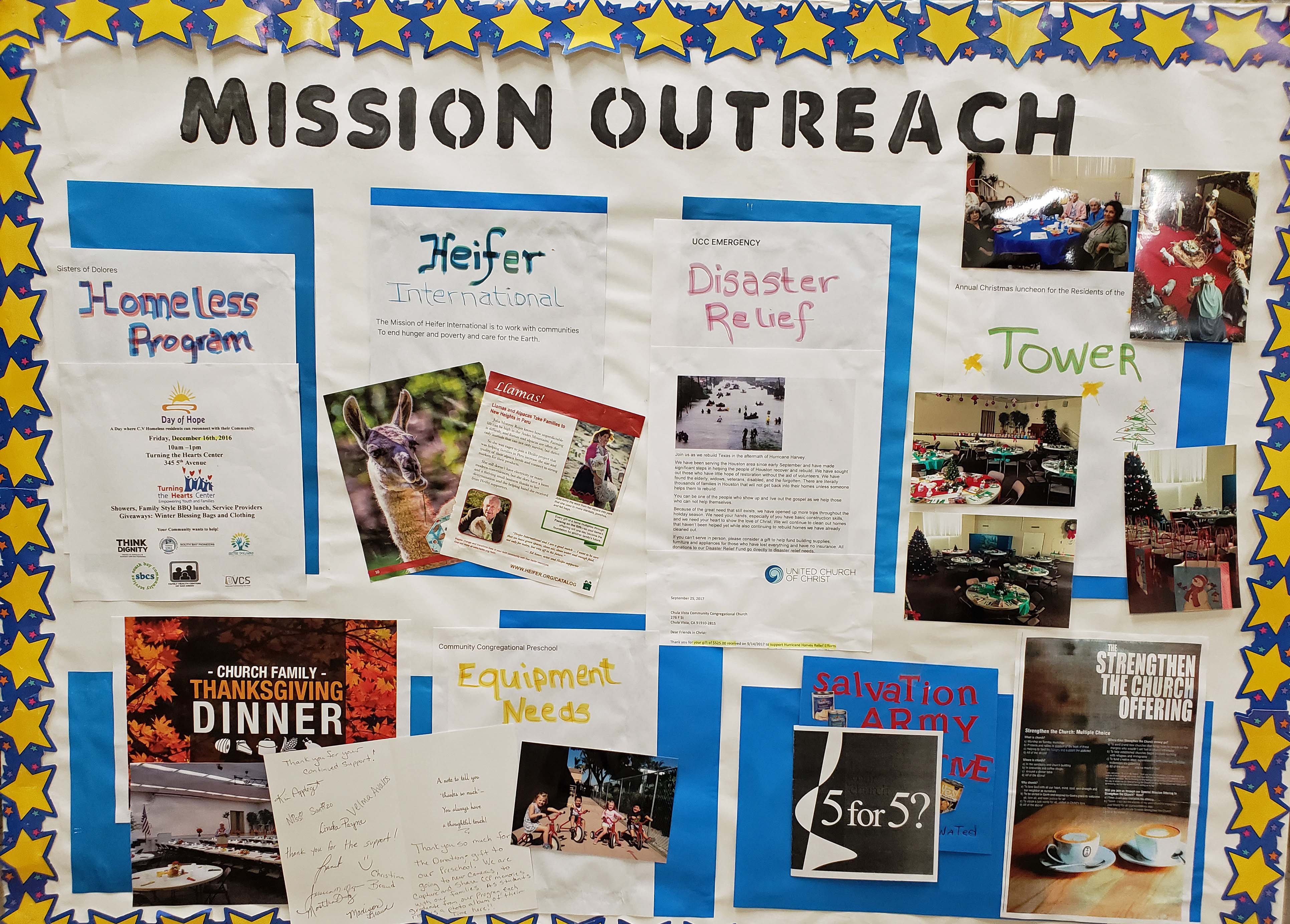 Outreach Projects Community Congregational Church Of Chula Vista Ucc